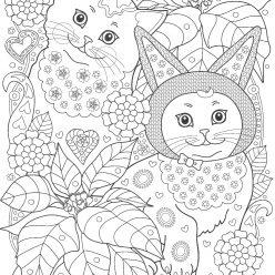 Коты в саду