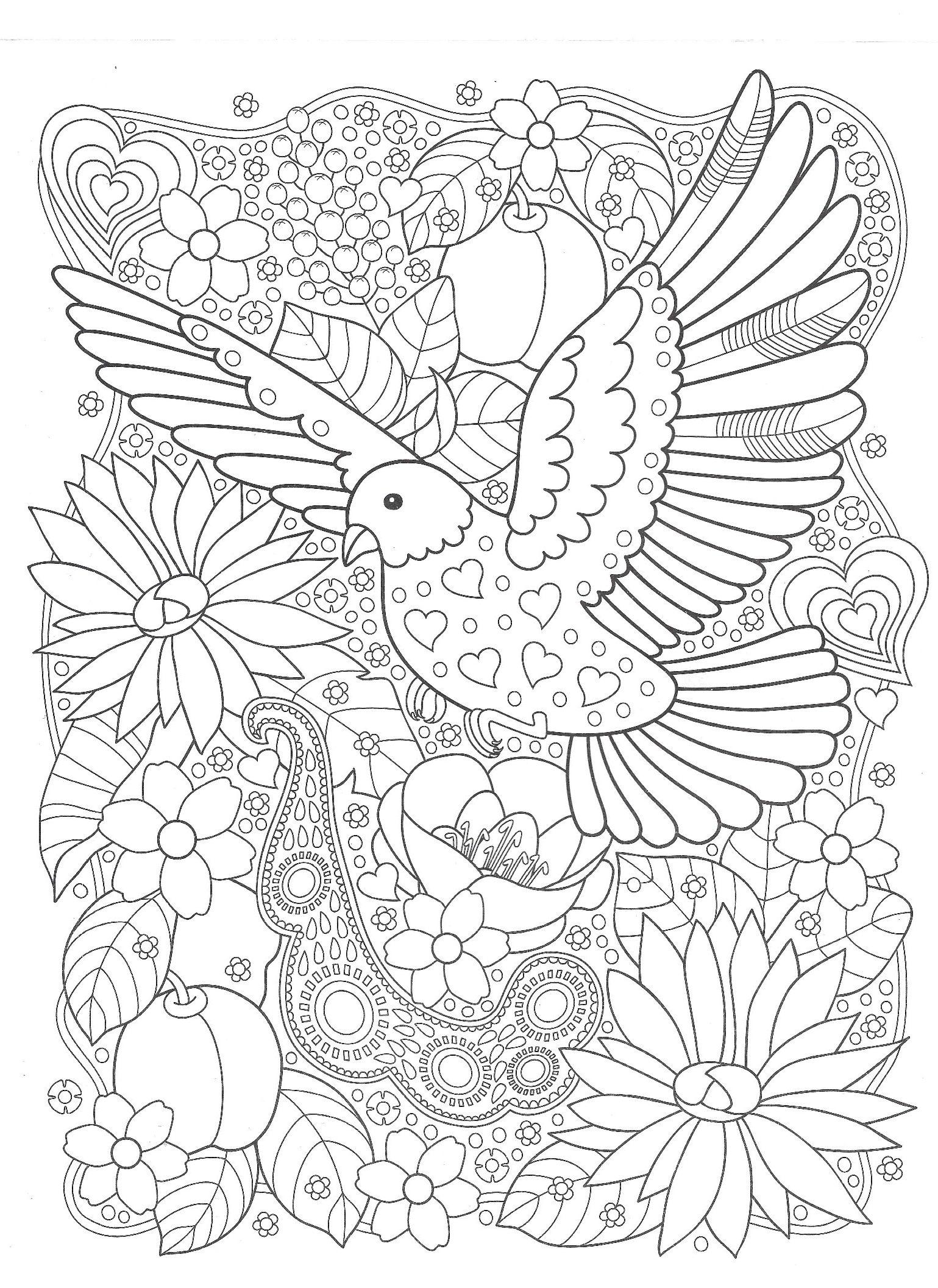 Птица в саду