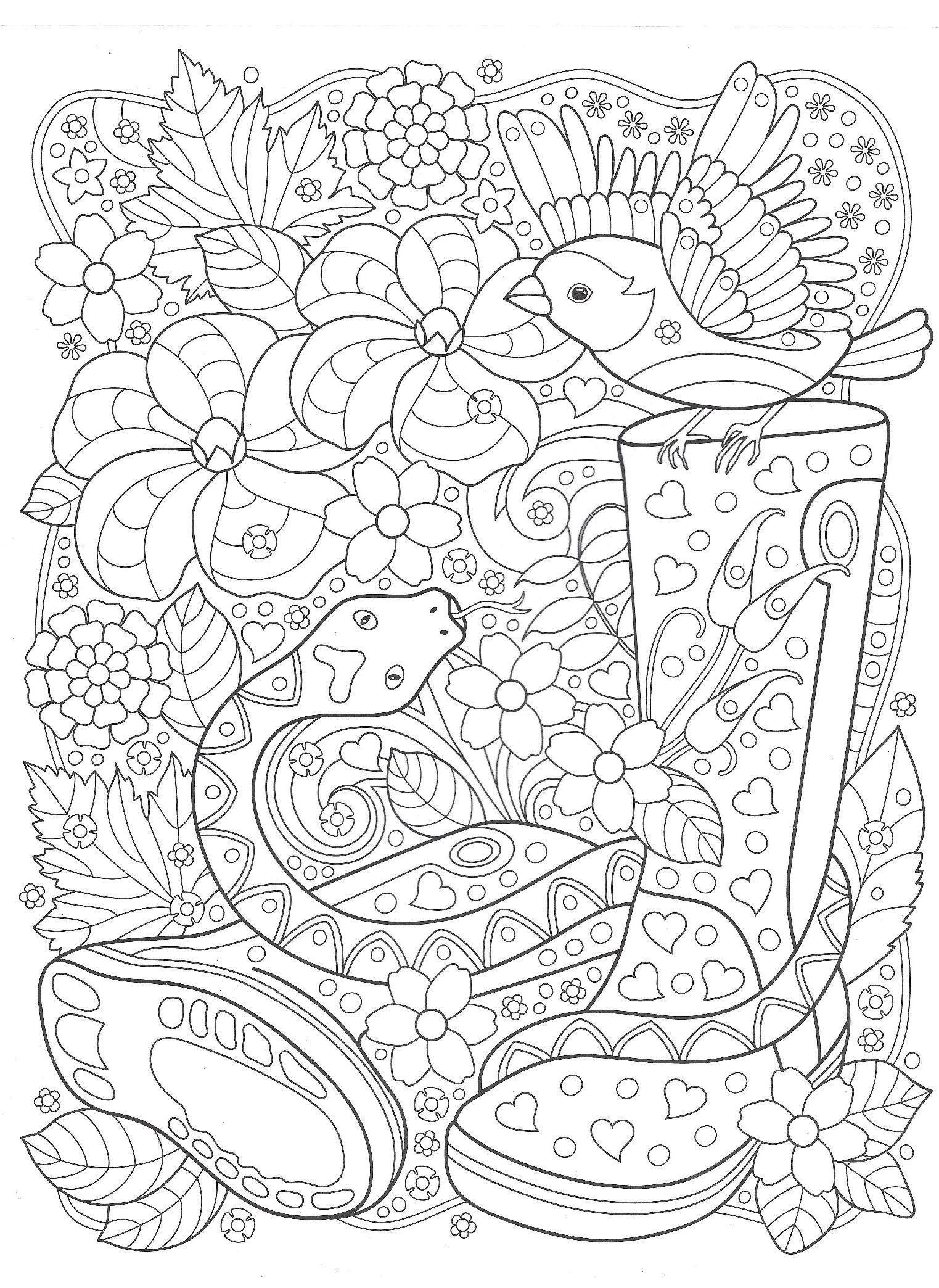 Птица и змея в саду