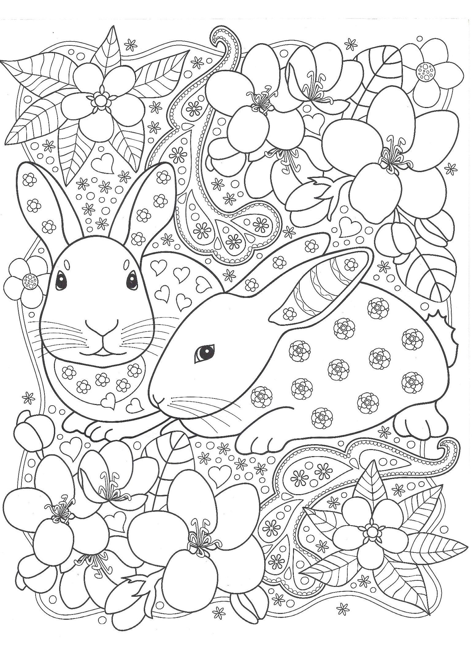 Кролики с цветами