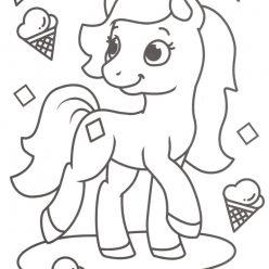 Раскраски антистресс «Пони и мороженное» для девочек, чтобы распечатать и раскрасить онлайн