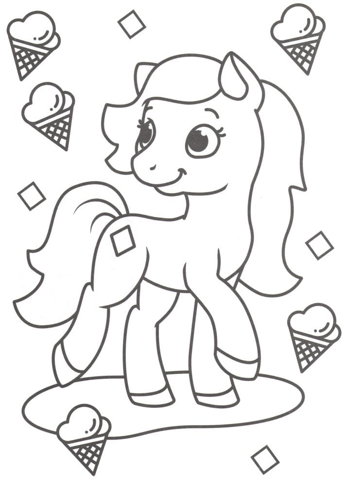 Пони и мороженное