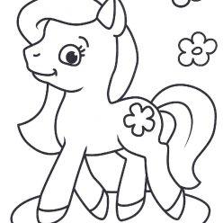 Раскраски антистресс «Пони и цветы» для девочек, чтобы распечатать и раскрасить онлайн