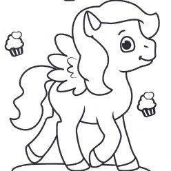 Раскраски антистресс «Пони и капкейки » для девочек, чтобы распечатать и раскрасить онлайн