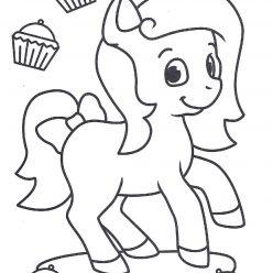 Раскраски антистресс «Пони и кексы» для девочек, чтобы распечатать и раскрасить онлайн