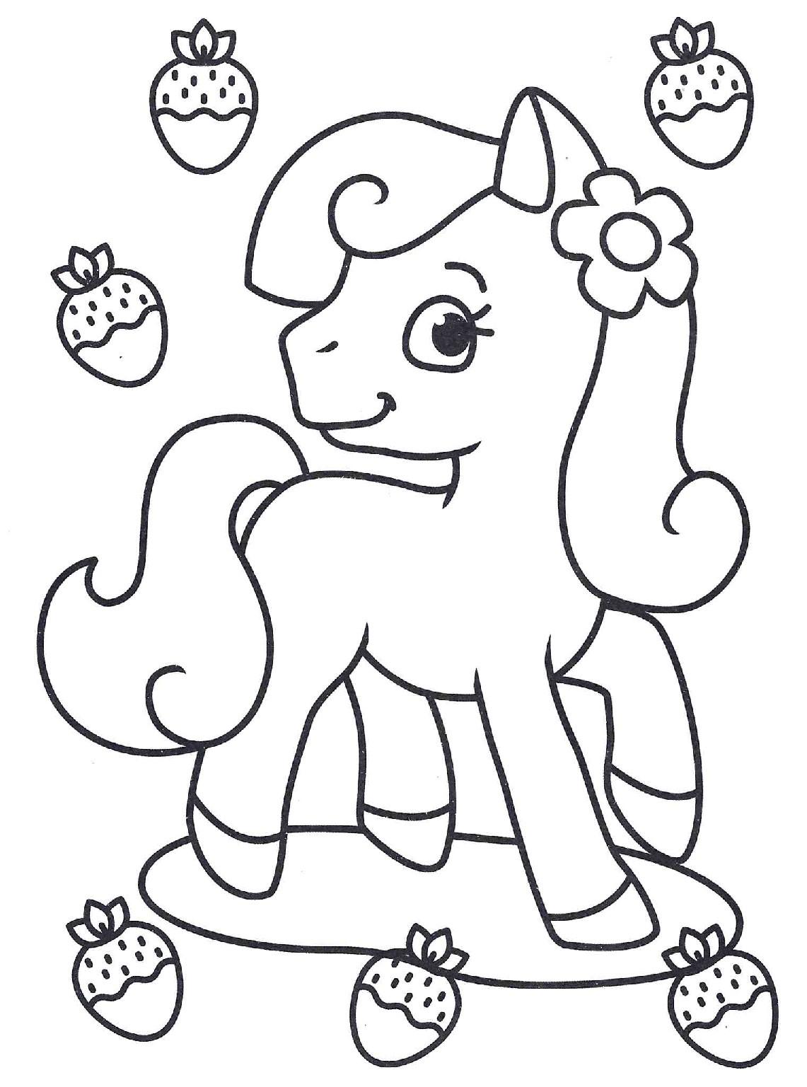 Пони и клубника