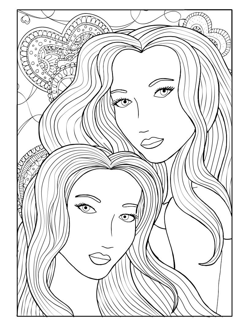 две женщины с длинными волосами люди и лица раскраски