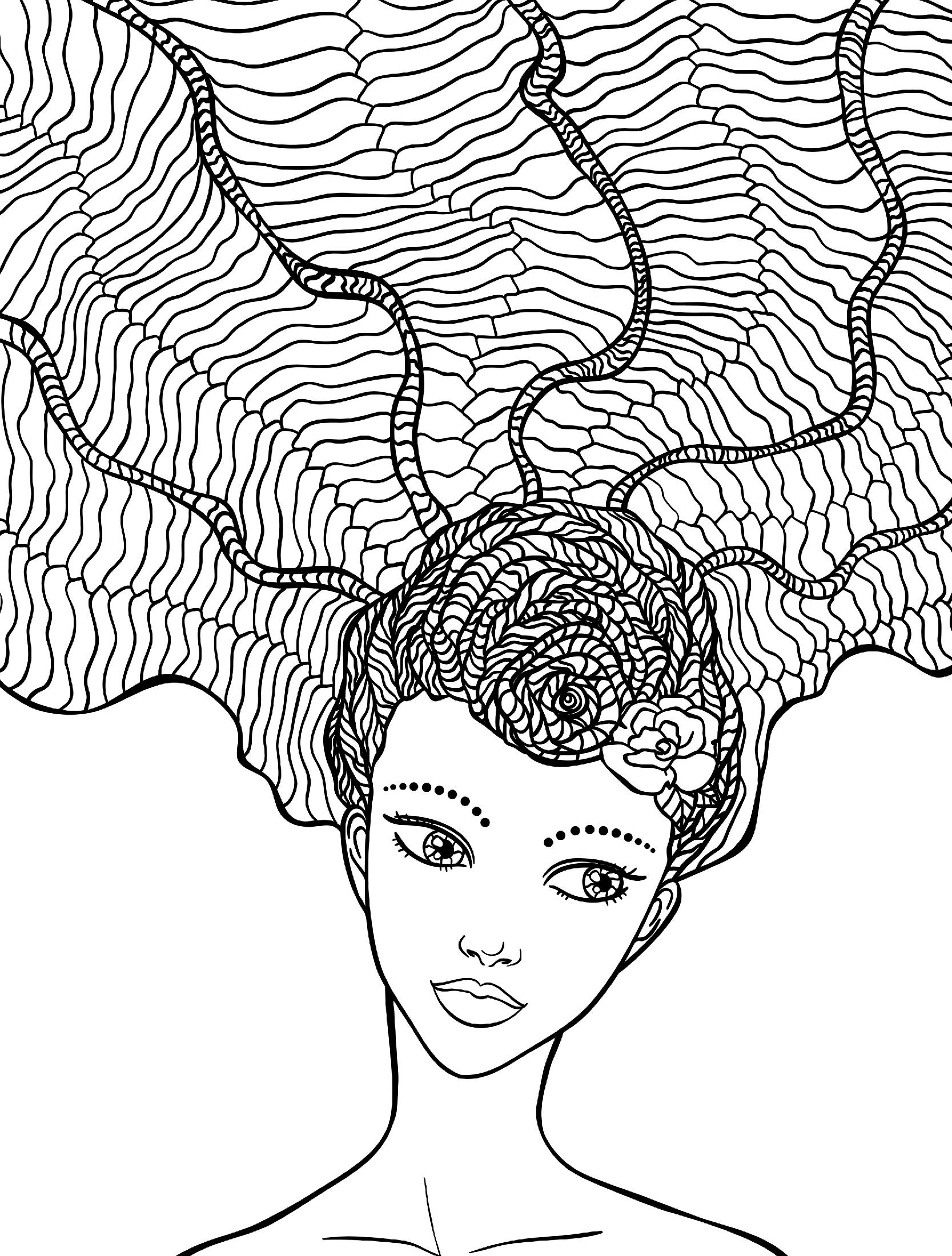 Девочка с прической морские узлы