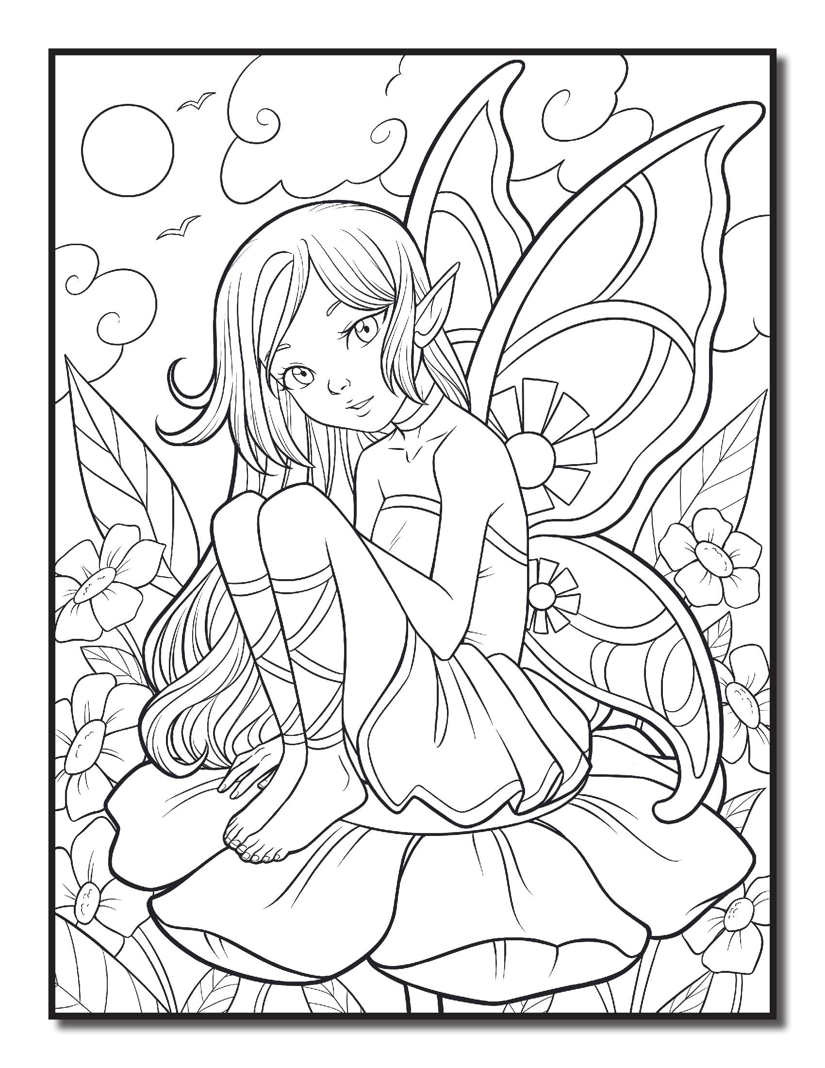 Ельфийка на цветке
