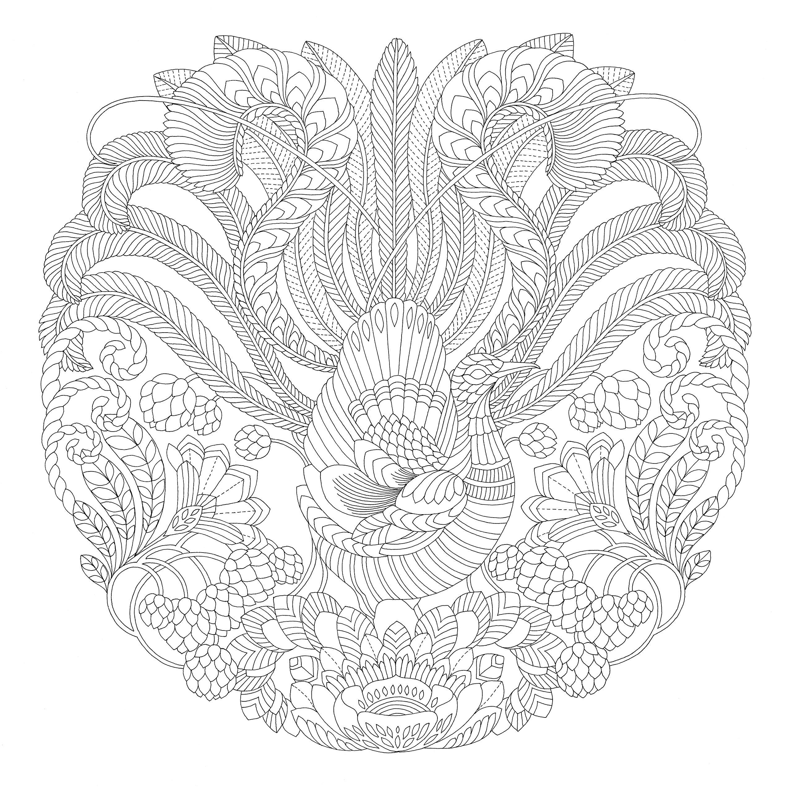 Индюк с цветами