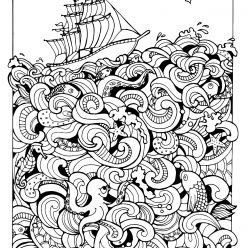 Корабль и морские жители