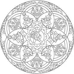 Мандала Часы и Новогодняя елка