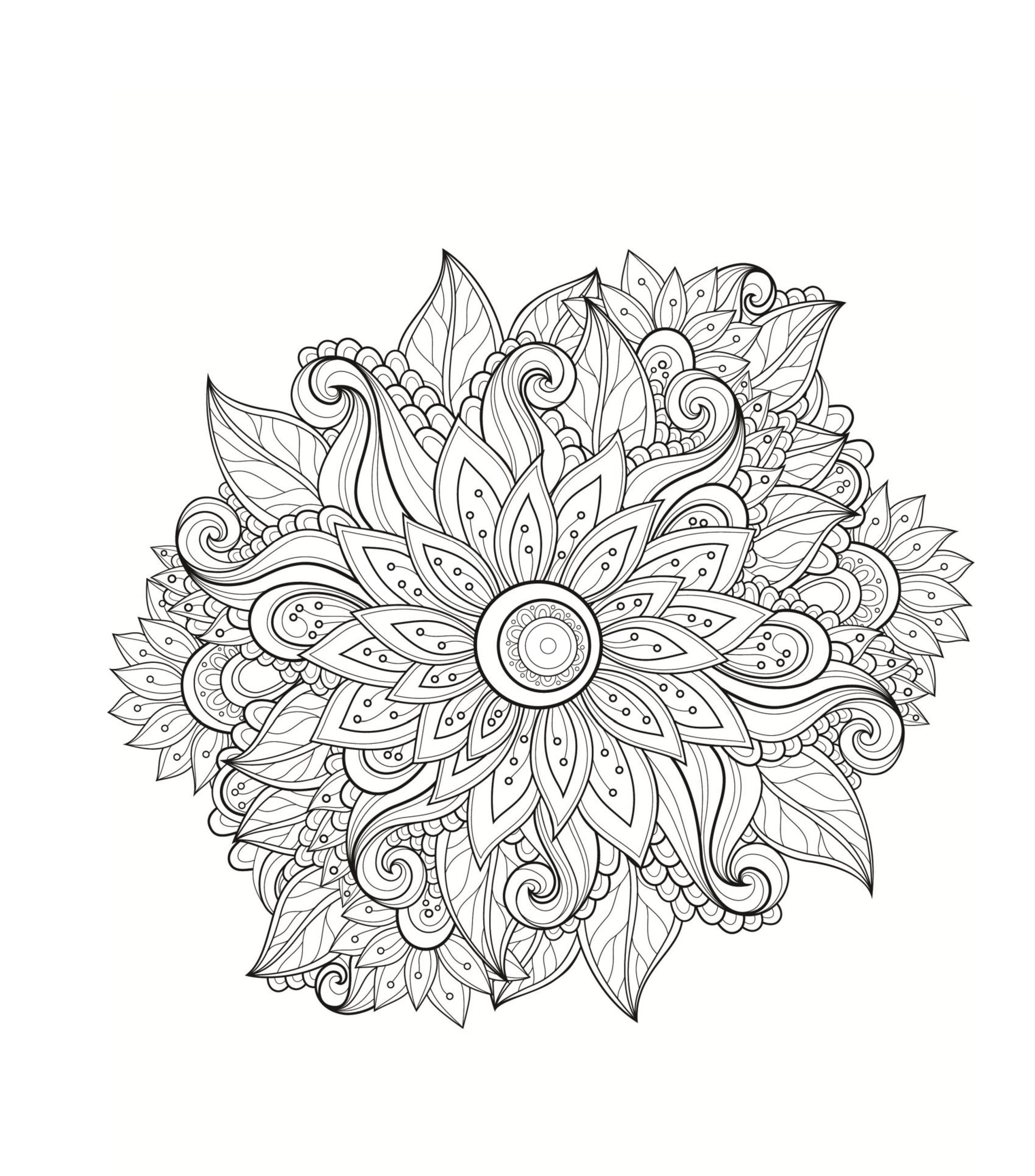 Мандала цветок