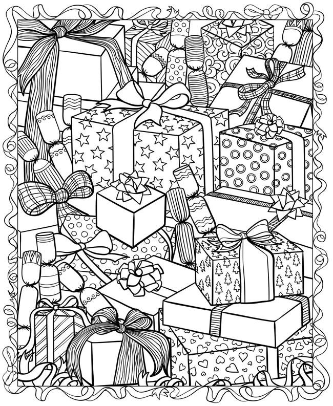 Много коробок с подарками