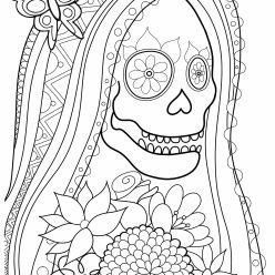 Раскраски антистресс распечатать хэллоуин Труп невесты
