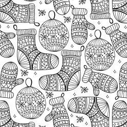Новогодние носки и шары
