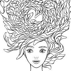 Прическа прекрасные волосы