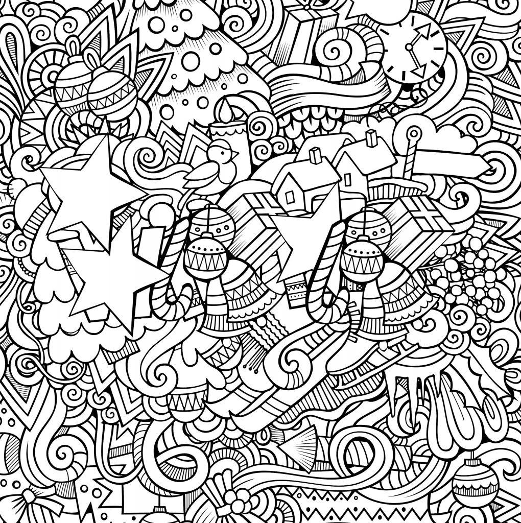 сложная раскраска новый год новый год раскраски антистресс