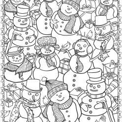 Снеговики с подарками