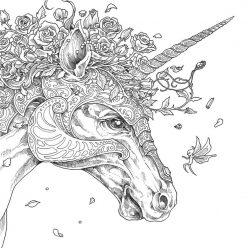 Единорог и розы