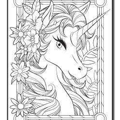 Единорог с цветами