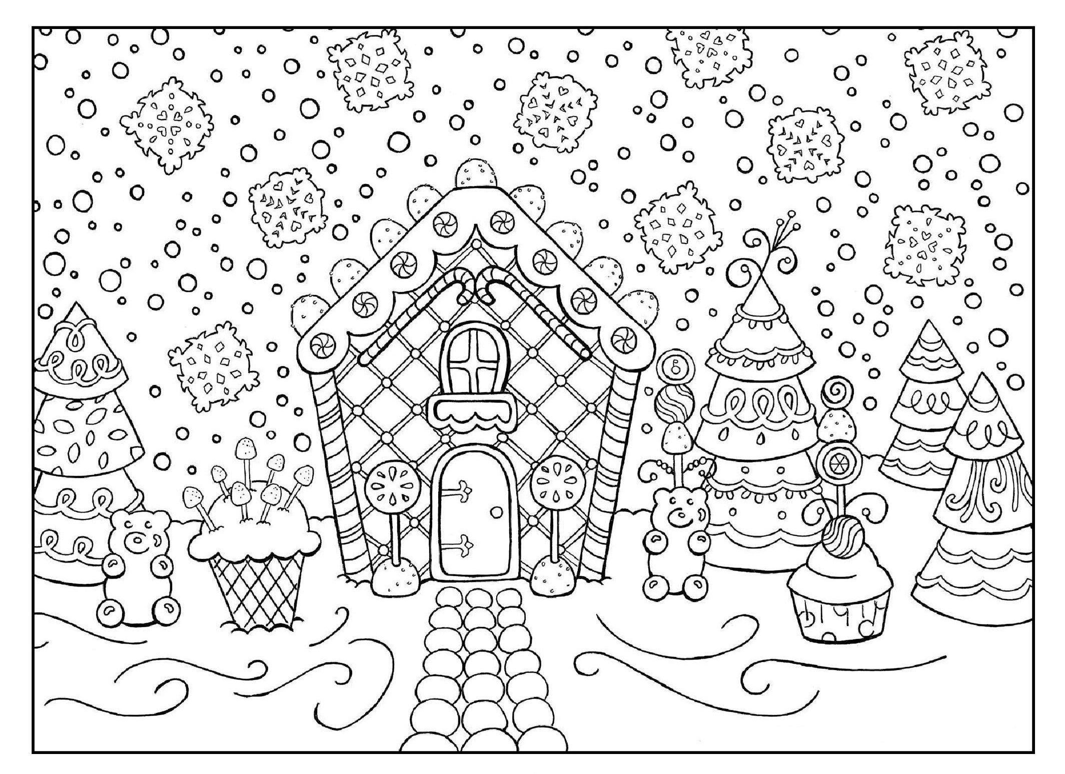 Новогодний пряничный дом со сладостями - Новый год ...