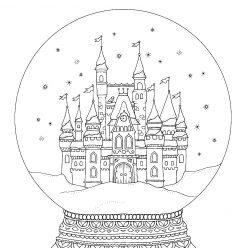 Новогодний стеклянный шар с замком