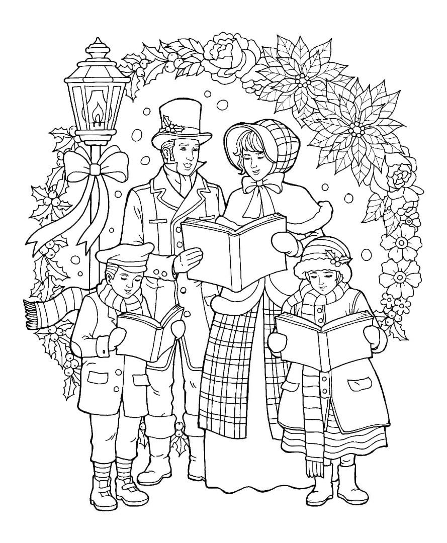 Новый год Семья на прогулке