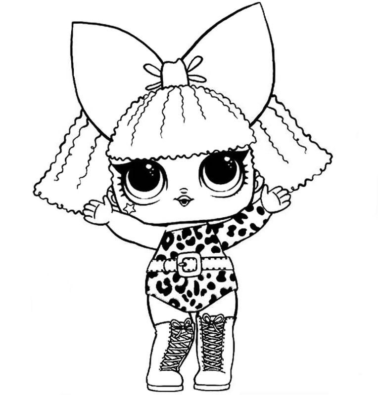 Кукла ЛОЛ дива - Куклы LOL - Раскраски антистресс