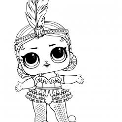 Раскраски кукла лол для детей «Шоу беби Showbaby», чтобы распечатать