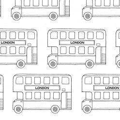 Раскраски сложные для взрослых антистресс «Английский двухэтажный автобус», чтобы распечатать