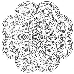 Раскраски антистресс мандала «Бесконечность», чтобы распечатать