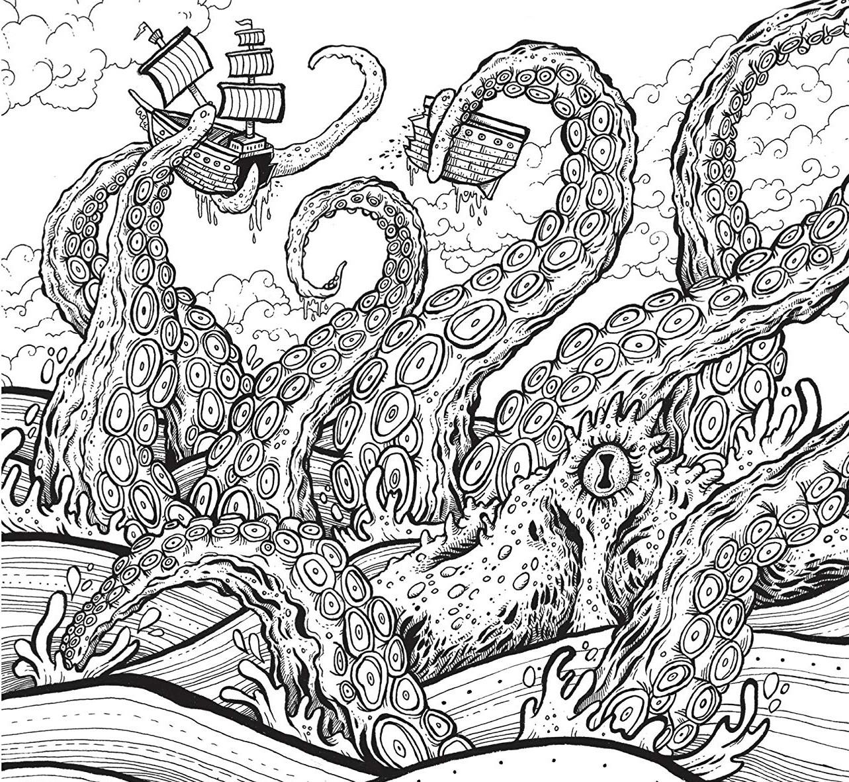 Морское чудовище в шторм