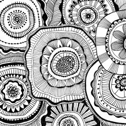 Раскраски антистресс узор цветы, чтобы распечатать
