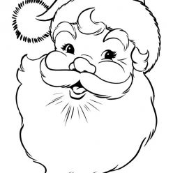Раскраски антистресс Новый год «Голова Санты Клауса», чтобы распечатать