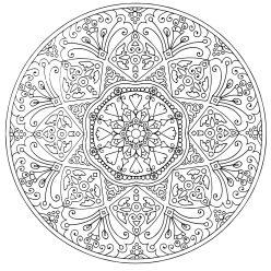 Раскраски антистресс мандала «Изобилие», чтобы распечатать
