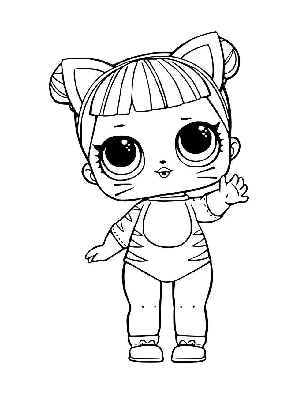 Кукла ЛОЛ кошка - Куклы LOL - Раскраски антистресс