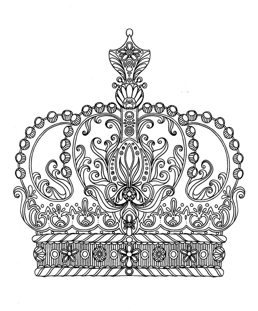 Раскраски для взрослых «Корона империи», чтобы распечатать