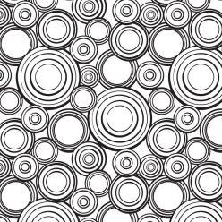 Раскраски антистресс с узором круги, чтобы распечатать и раскрасить онлайн