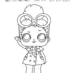 Раскраски для детей Кукла лол «босс квин», чтобы распечатать