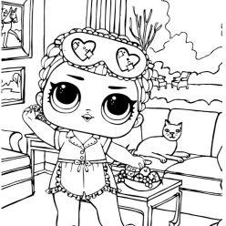 Раскраски для детей Кукла лол «Конфетти», чтобы распечатать формат А4