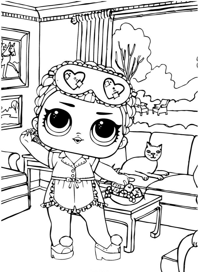 Кукла ЛОЛ Конфетти спящая - Куклы LOL - Раскраски антистресс