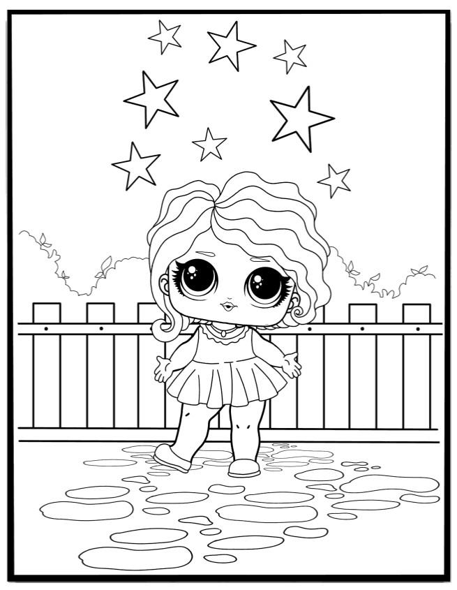 Кукла ЛОЛ леди волна - Куклы LOL - Раскраски антистресс