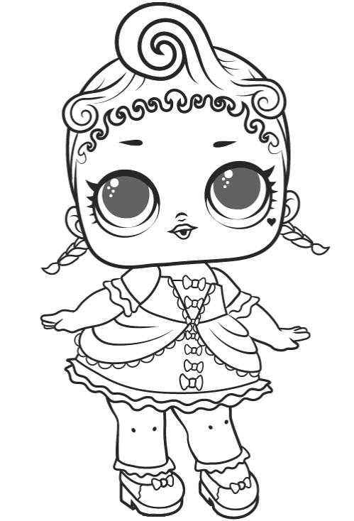 Раскраски для детей Кукла лол «Роял Хай-Ней 1 серия», чтобы распечатать