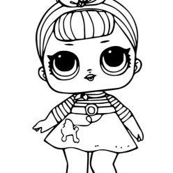 Раскраски для детей Кукла лол «Сис Свинг», чтобы распечатать