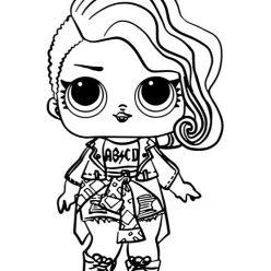 Раскраски для детей Кукла лол «рокерша 1 серия», чтобы распечатать