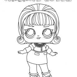 Раскраски для детей Кукла лол конфетти «мадам квин», чтобы распечатать