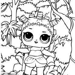 Раскраски для детей Кукла лол «Космическая королева», чтобы распечатать формат А4