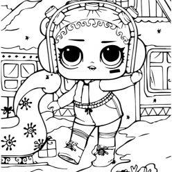 Раскраски для детей Кукла лол «новый год», чтобы распечатать формат А4