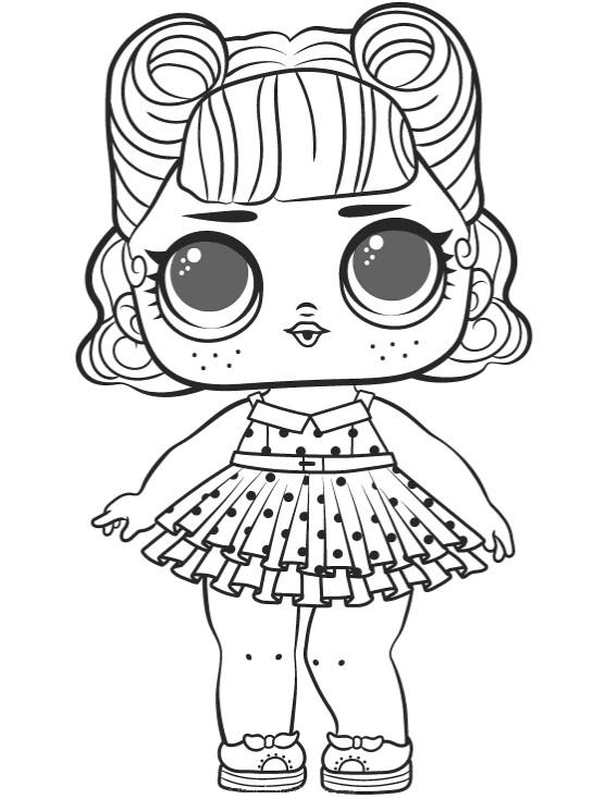 Раскраски для детей Кукла лол «мисс Джиттербаг», чтобы распечатать